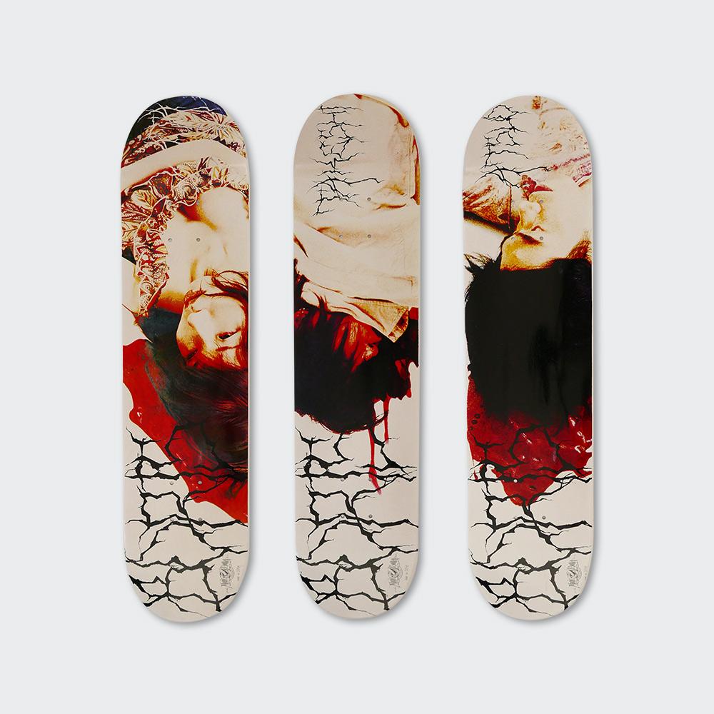 """""""feedbacker"""" skateboard deck"""