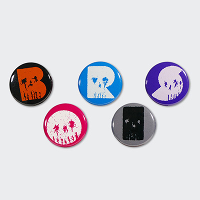 """BORIS Skull"" Badge Set"