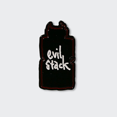 """Evil Stack"" Pins"