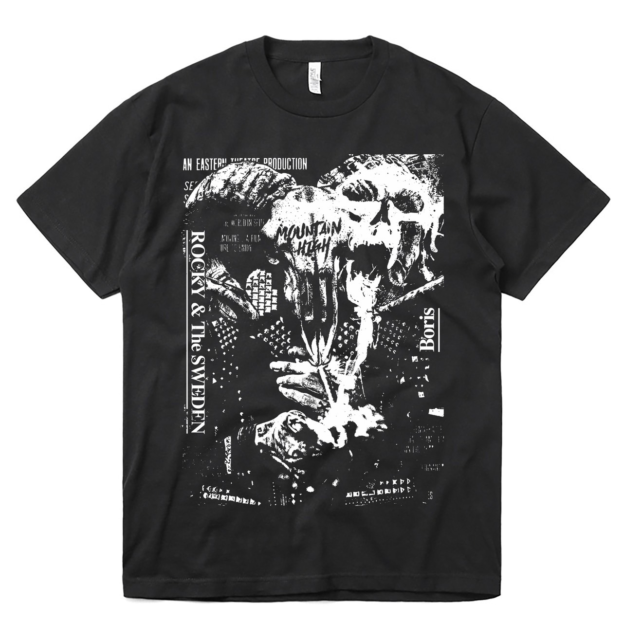 Rocky & The SWEDEN / Boris  T-shirt +Split cassette
